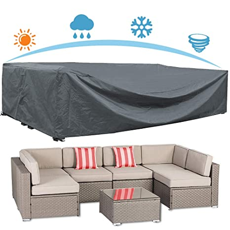Amazon.com : AKEfit Patio Furniture Cover Outdoor sectional ...