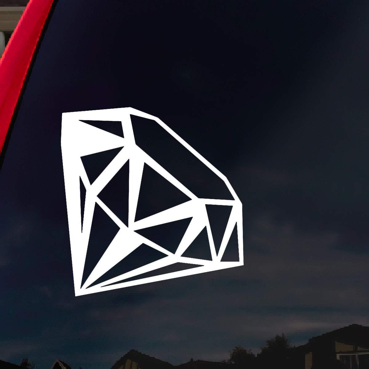 Diamond Car Window Vinyl Decal Sticker 4 Wide by SoCoolDesign