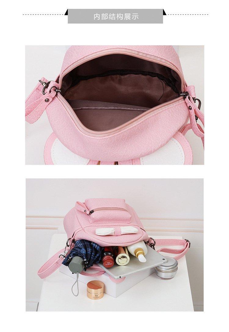 9dee128605e5 leomoste Cute Bowknot Leather Daypack Kids Girls Mini Backpack Shoulder Bag  Schoolbag