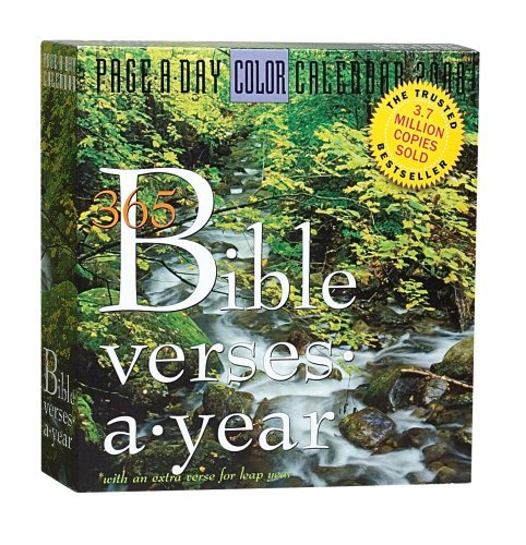 365 Bible Verses-A-Year Page-A-Day Calendar 2008 by Workman Publishing ()