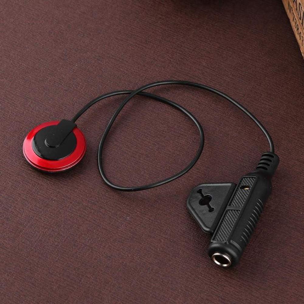 Instrumento Dispositivo de captaci/ón de sonido Micr/ófono profesional de contacto piezoel/éctrico para guitarra Viol/ín Banjo Mandolina Ukulel Accesorios para guitarra