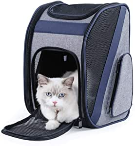 MAOSHE Pet Backpack - Out-of-The-Shoulder Backpack, Portable Cat Bag, Bag-Type Firm, Light and Easy to Fold, Used for Pet Bags, Pet Cages