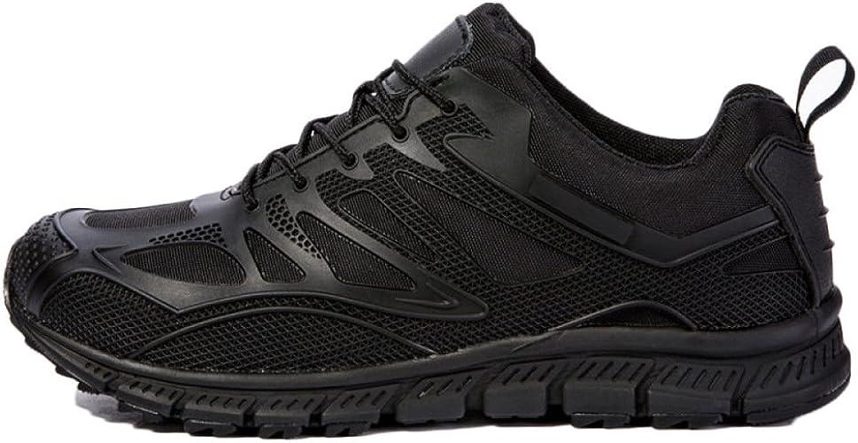 Zapatos De Senderismo Hombres Impermeables Negro Ligero Outdoor Low Cut Casual Sports Shoes Cuero Fuerzas Especiales Military Boots: Amazon.es: Zapatos y complementos