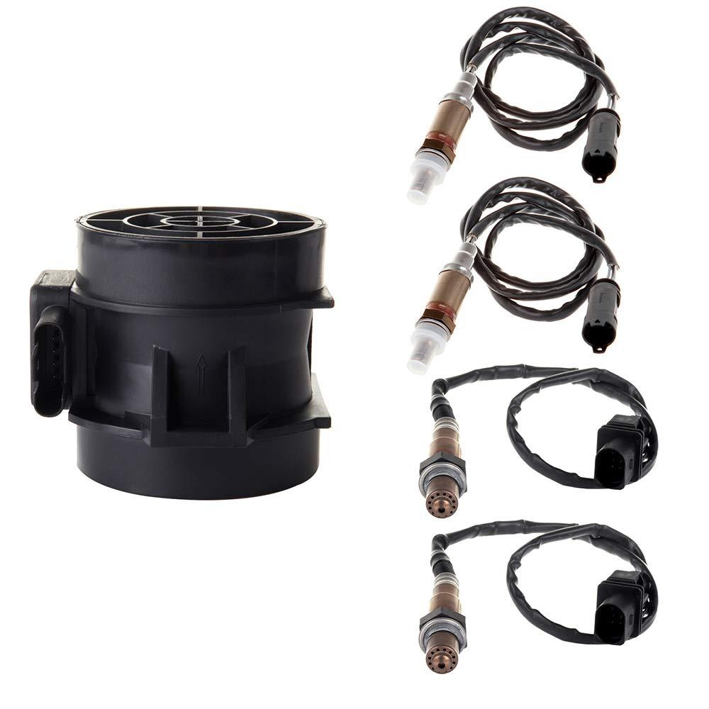 MAF ECCPP Mass Air Flow Sensor+Upstream and Downstream Oxygen Sensor 4pcs for 2003-2006 BMW 325Ci 2004-2005 BMW 325i