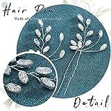 Jeairts Crystal Bride Wedding Hair Pins Rhinestone
