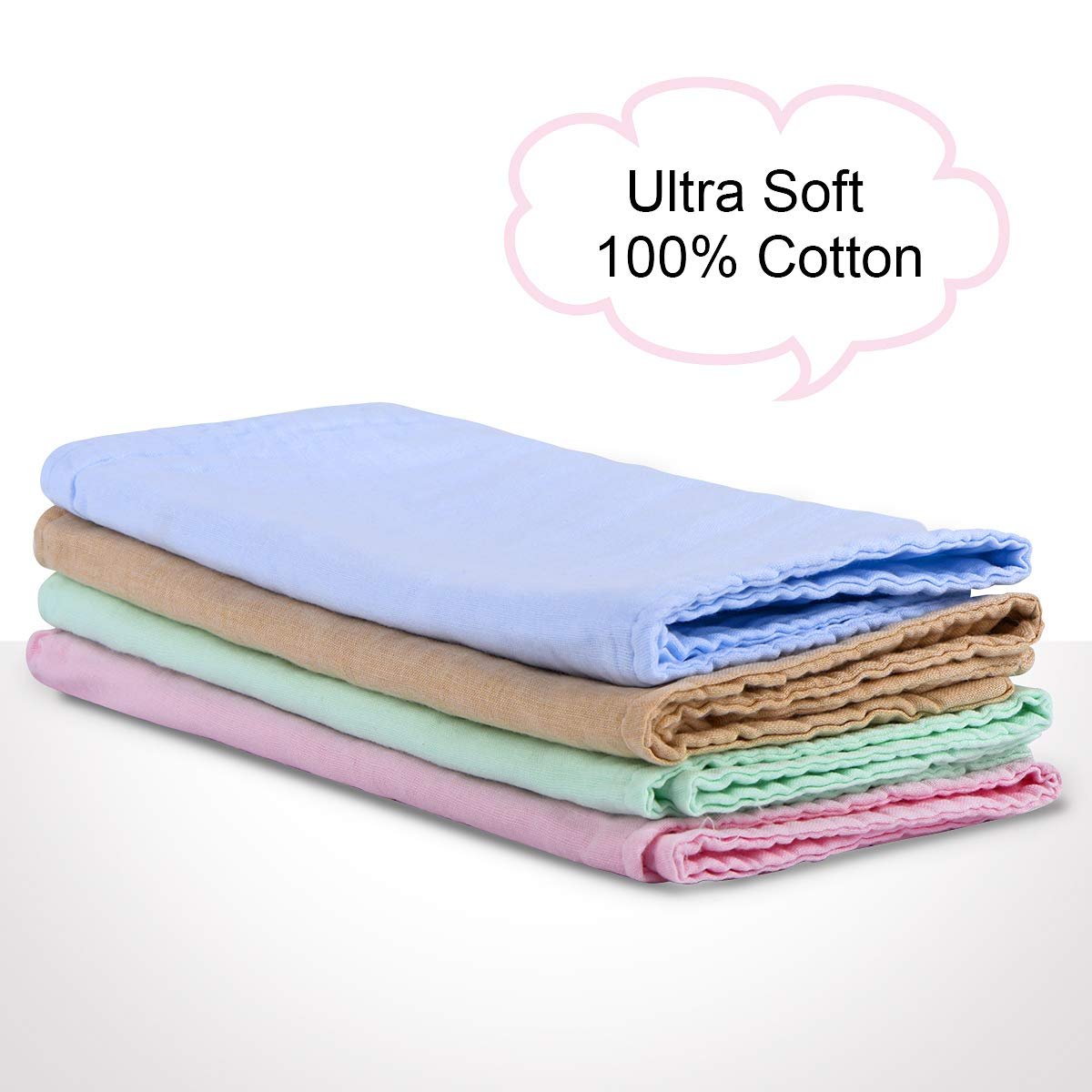 SkyBlue 100/% Cotton Triple Layer Extra Soft /& Absorbent Multi-Use/Infant Burping Towels Burp Cloths for Baby Boy Girl/for Newborns