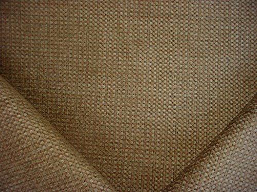 92RT4 - Bronzy Gold / Light Grey Cuddly Soft Texture Chenille Designer Upholstery Drapery Fabric - By the Yard