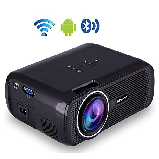 Proyector inalámbrico Bluetooth,proyector LED de Video casero ...