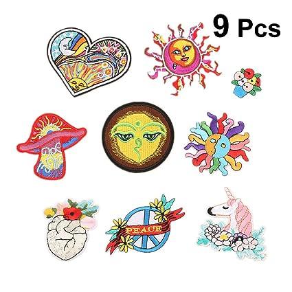 Amazon com: 9PCS Cloth Stickers Computer Embroidered Cloth Badge