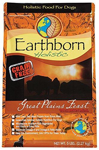 Earthborn Holistic Great Plains Feast Grain Free Dry Dog Food, 5 Lb.