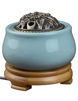 ... de Temperatura Ajustable de Oficina - Agarwood Aromaterapia Aceite Esencial de calefacción eléctrica Estufa de aromaterapia: Amazon.es: Hogar