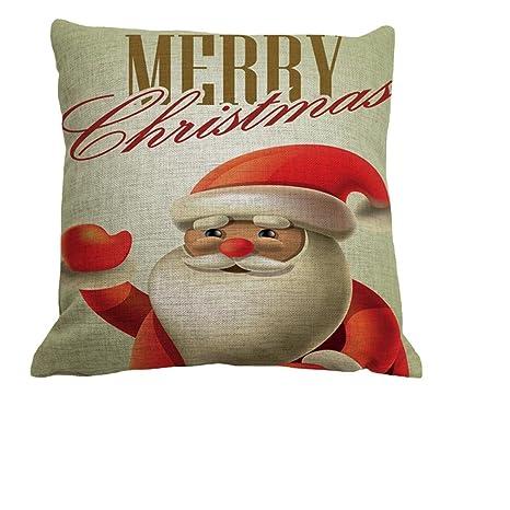Amazon.com: nunubee cuadrado Navidad Almohada Throw funda de ...