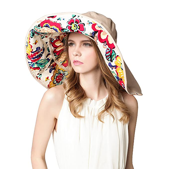 Extra Large Brim Floppy Sun Hat Reversible UPF 50+ Beach Summer Bucket Hat  at Amazon Men s Clothing store  22c99505eb8