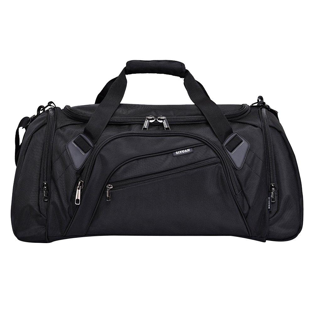 SIYUAN Football Bag, Large Golf Club Duffel Bag for Tennis Volleyball with Adjustable Strap,Black,Medium