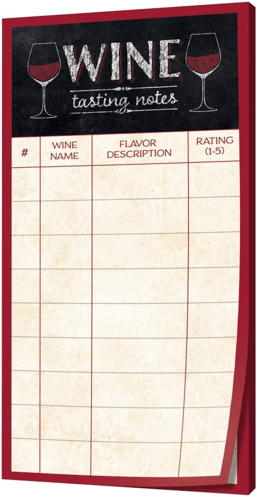 Wine Tasting Note Pad and Wine Themed Cocktail Napkins Wine Tasting Party Kit