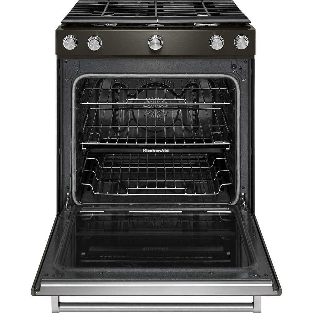 amazon com kitchenaid ksgg700ebs 5 8 cu ft slide in black rh amazon com