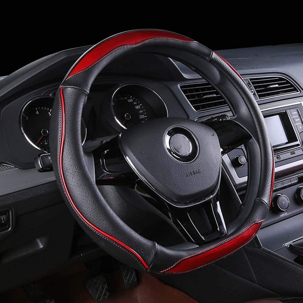 Xihaoer D Shape Steering Wheel Cover Cool 2020 New black gray