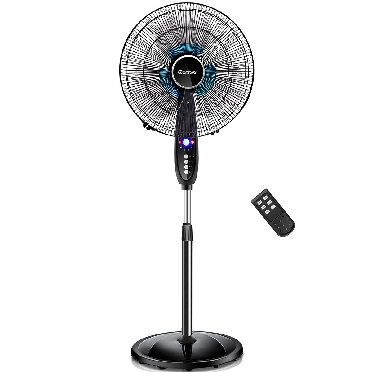 "COSTWAY 16"" Adjustable Pedestal Fan Black Friday Deals 2020"