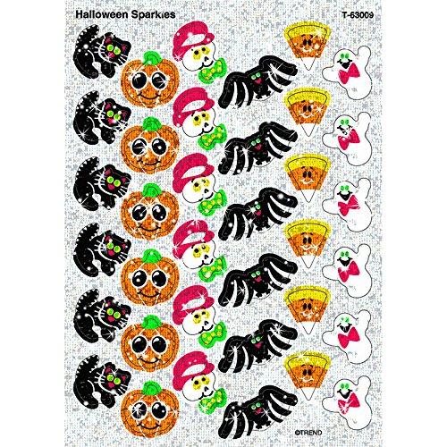 Trend Enterprises Halloween Sparkles Sparkle Stickers (72 (Halloween Sales Motivation)