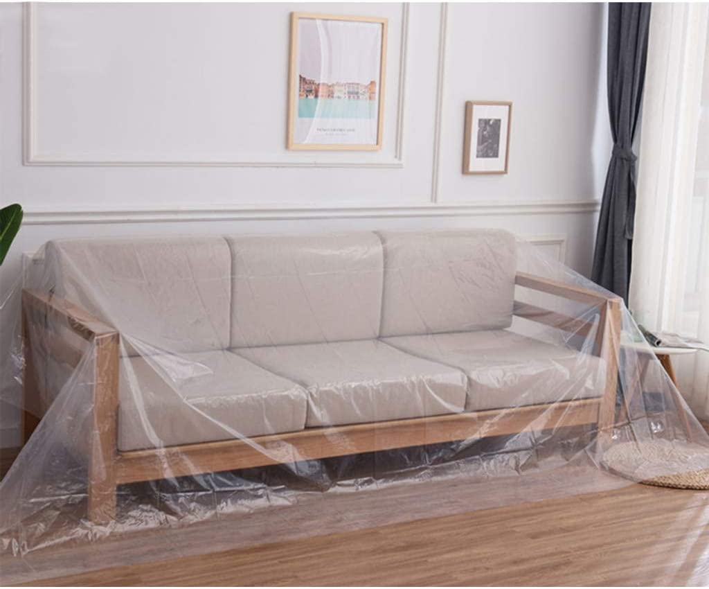 Plastic Furniture Protector Couch Covers for Moving Protection Long Term Storage, PE Sofa Cover Waterproof Dust proof-ordinary-200x100cm(79x39inch)