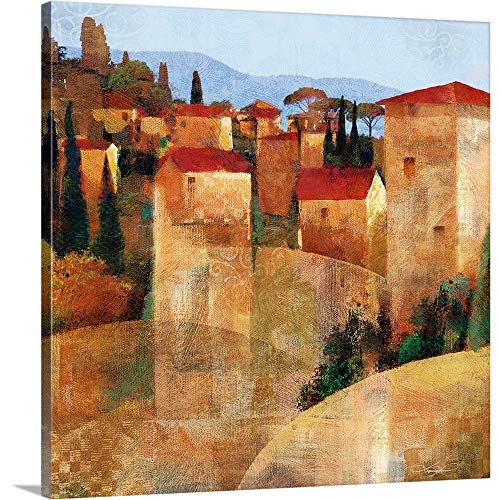 GREATBIGCANVAS Gallery-Wrapped Canvas Entitled Tuscan Hillside by Keith Mallett ()