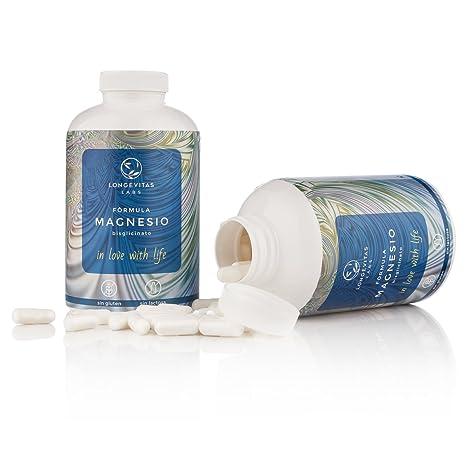 Fórmula Magnesio es el complemento nutricional de Longevitas Labs a base de bisglicinato de magnesio,