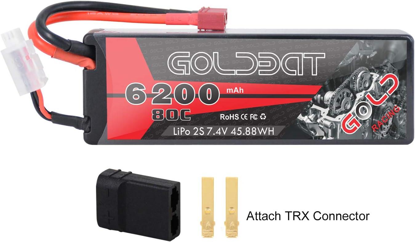 Bateria 2s Lipo Battery 6200mah 7.4v 80c Rc Conector Trx