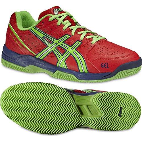 Asics Gel Padel Pro 2 SG - Zapatillas para Hombre, Color Rojo/Verde/Azul