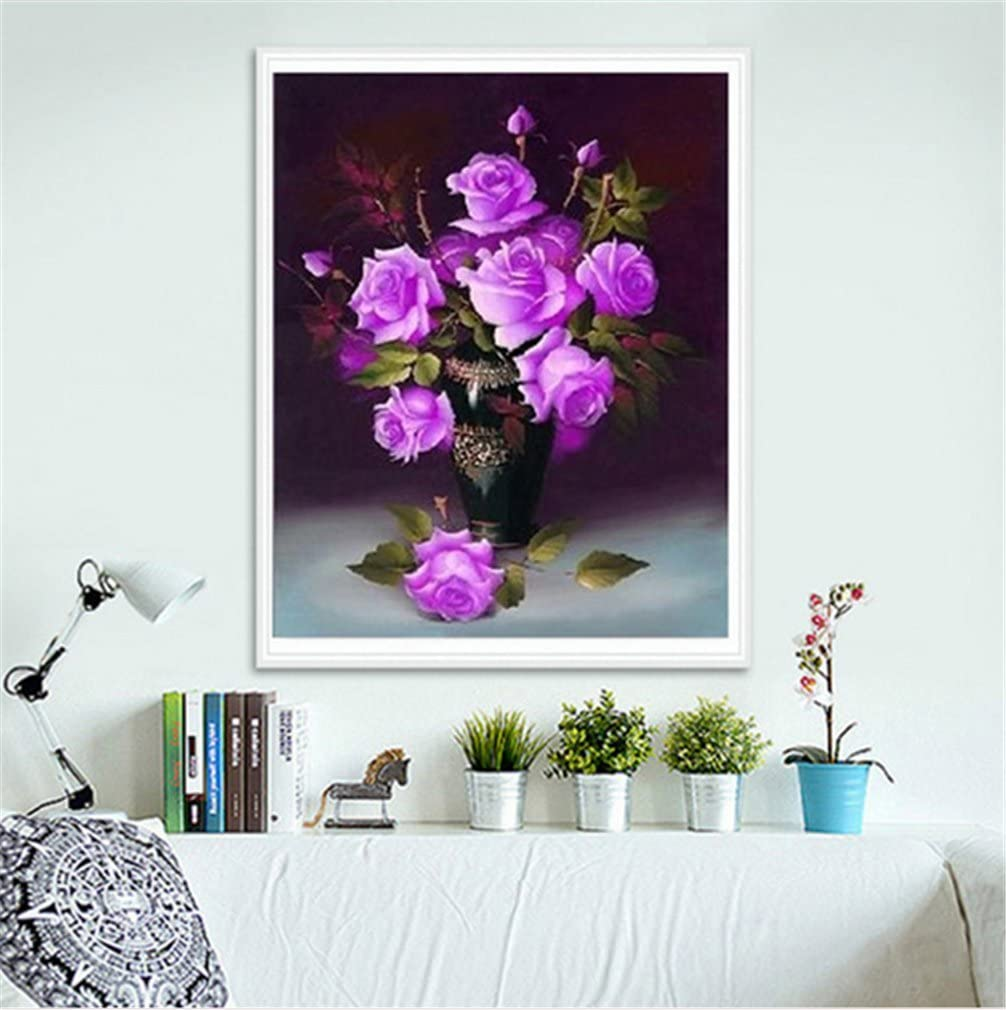 Colorful YEESAM ART Diamond Painting Kits Partial Drill Colorful Rose Flower 30x30 cm DIY 5D Diamond Art Mosaic Crafts for Adults Kids Beginner Crystals Cross Stitch Christmas
