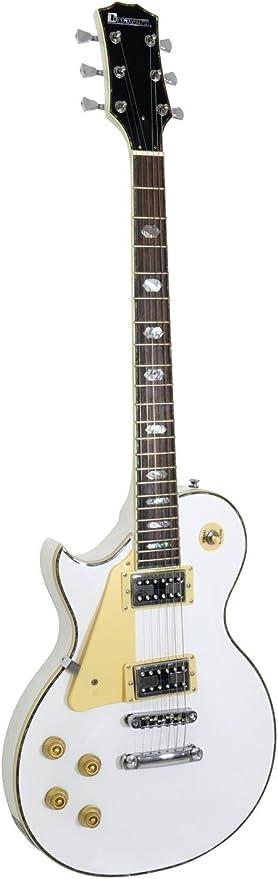 Set 2 x Guitarra eléctrica METEOR HIT para zurdos, blanco - 2 unidades de Guitarra para avanzados / Guitarra de rock - klangbeisser: Amazon.es: Hogar