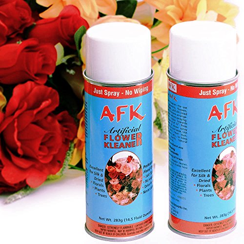 Flower Cleaner (Larksilk Artificial Flower Kleaner - 2 14.5 oz Artificial Plant Cleaner Spray and Dried Flower Spray)