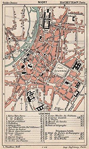 Amazoncom NIORT Vintage town city ville map plan carte Deux