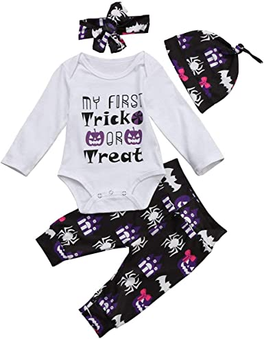 Trick Or Treat Pure Cotton Baby Boys Girls Long-Sleeve Romper Jumpsuit