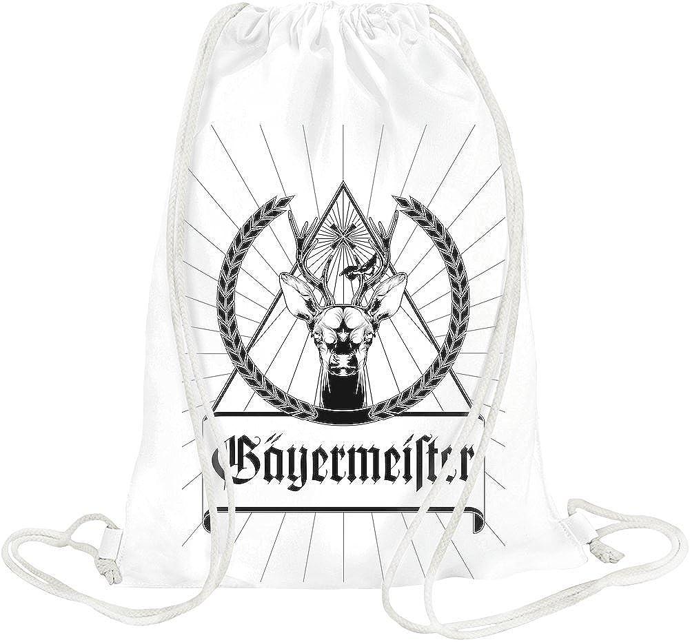 Jagermeister Black Logo Drawstring bag