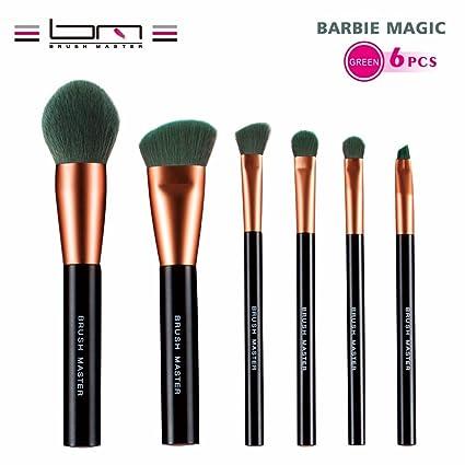 fa568dc77fad BM 6PCS Premium New Tech Synthetic Kabuki Makeup Brush Set Brushes ...