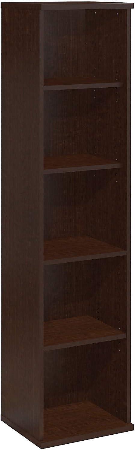Bush Business Furniture Series C 18W 5 Shelf Bookcase in Mocha Cherry