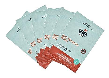 24 x Vie mosquitos y repelente de insectos toallitas, Deet libre, conveniente para los