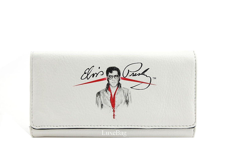 Elvis Presley Medium White Purse Wallet Set, Two Way Bag