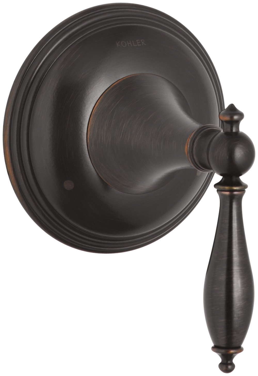 KOHLER K-T10304-4M-2BZ Finial Traditional Valve Trim with Lever Handle for Transfer Valve, Oil-Rubbed Bronze