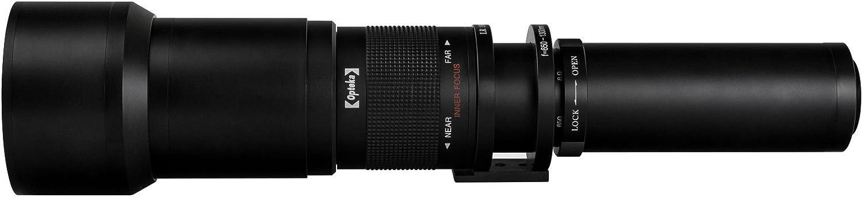 PL2 Micro Four Thirds Digital Cameras GX7 GX850 Opteka 650-1300mm f//8 HD Telephoto Zoom Lens for Panasonic Lumix DMC G9 G7 GH3 PL5 PL1 G85 P5 GH4 GH5 GX8 GH1 Black Olympus Pen E-PL7