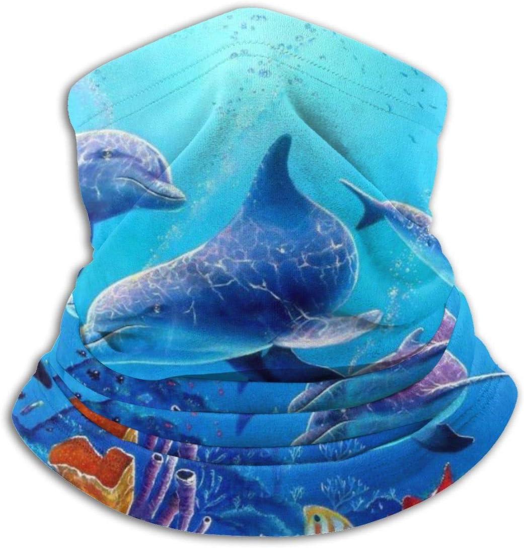 Ginger-Ale Kostenlose Dolphin Fleece Halsw/ärmer W/ärmef/änger Hals Gamasche Rohr Sturmhaube Halbmaske Ski Hals Gamasche Abdeckung