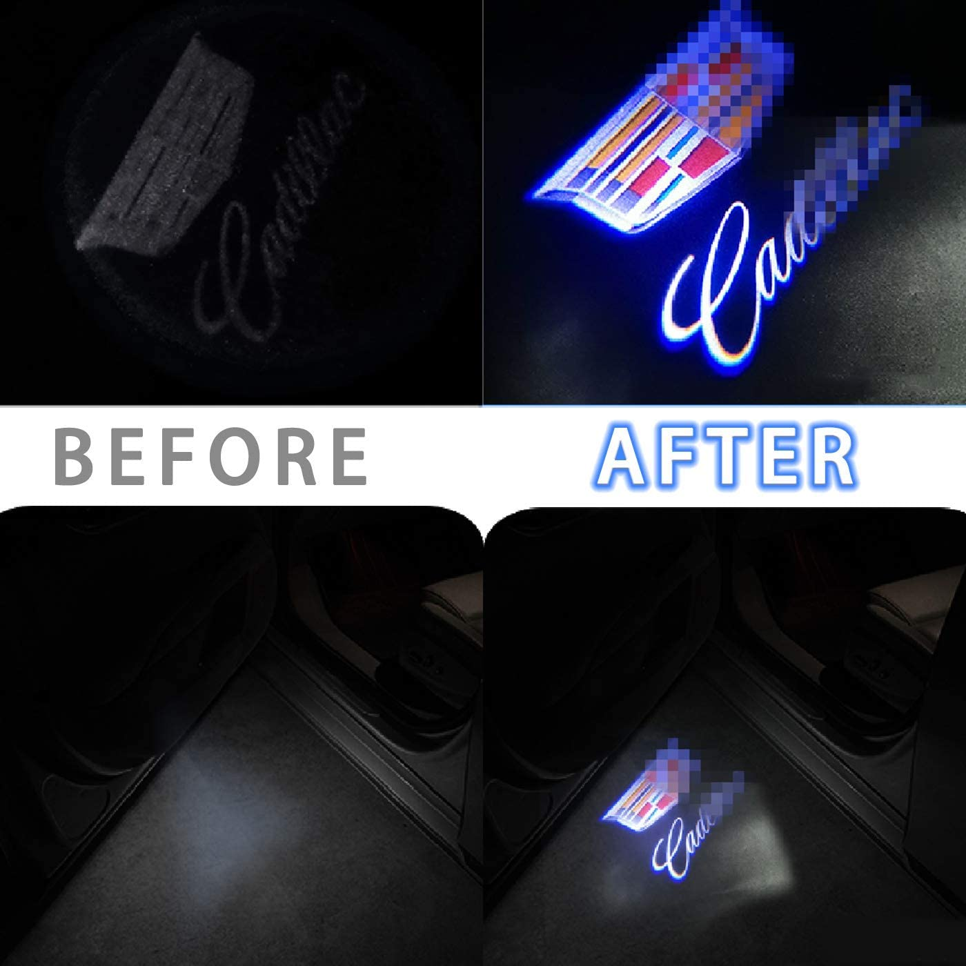 2 Pcs Car Door Lights Logo Projector for BUICK No Rewiring Easy to Install For All Universal Vehicles Car SUV 2 PCS Wireless Car Door Paste High- Welcome Light Projector No Drilling