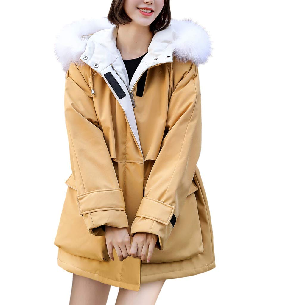 Yanvan Fashion Winter Women Jacket Winter Print Long Down Cotton Ladies Hooded Coat Jacket Outwear by Yanvan