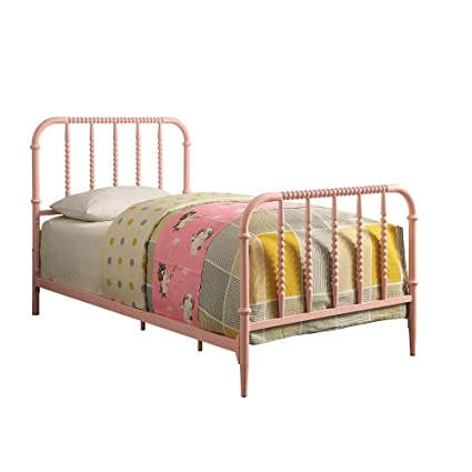 buy online 8d10e 2c963 Amazon.com: Benzara BM186344 Metal Full Size Youth Bed with ...