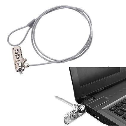 Homy Candado de seguridad para ordenador portátil, cable de seguridad bloqueo de portátil, 4