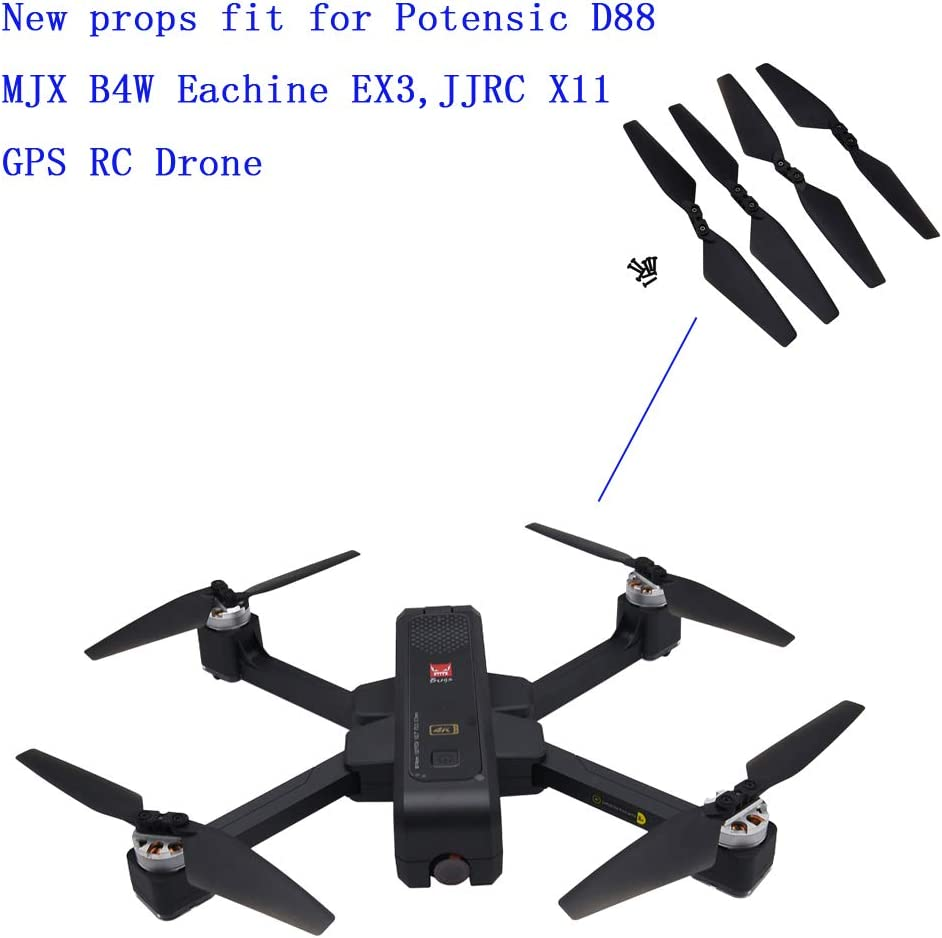 4pack Drone Propeller for MJX Bugs 4W B4W EX3 HS550 4-axis Aircraft Parts