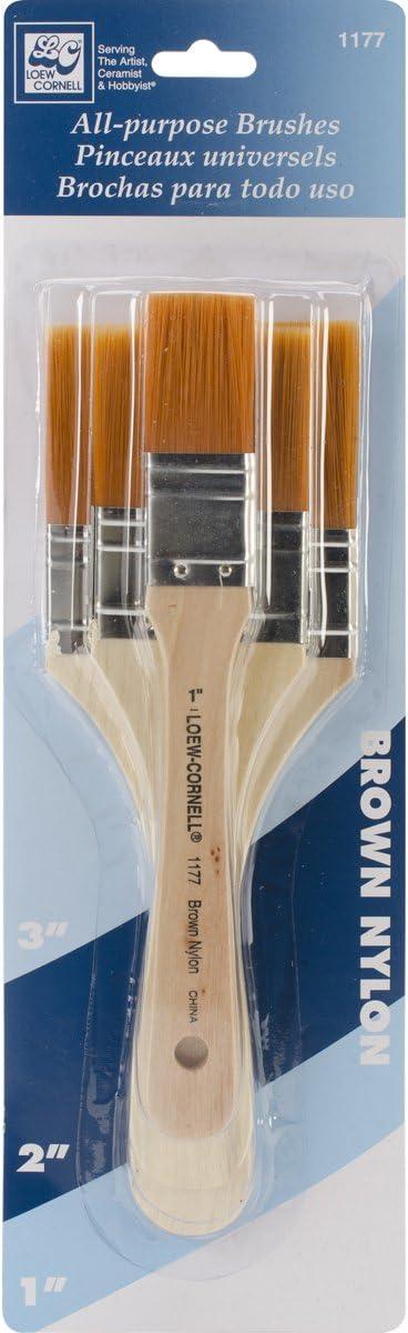 Paint Brushes Set Brush Brochas All Purpose House Painting Home Kit 5 Pack