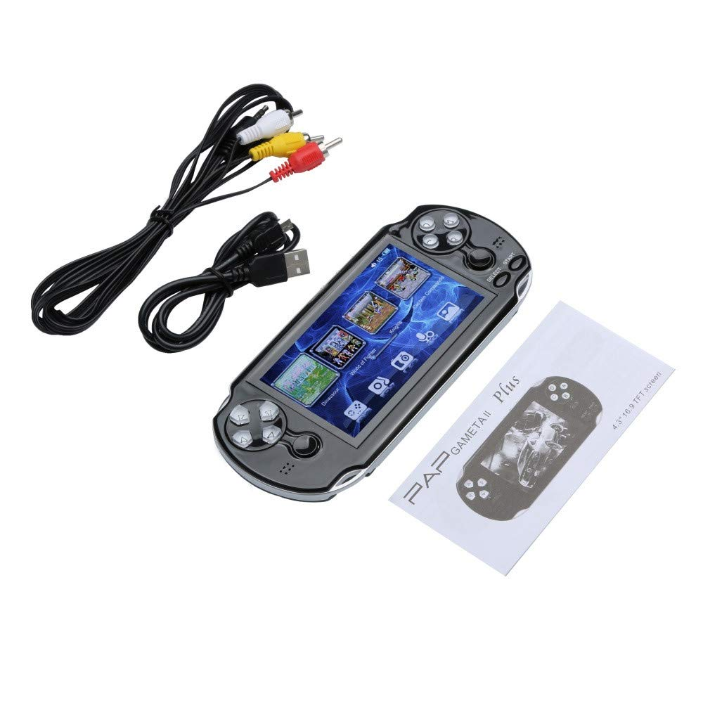 Zhaowei Pap GAMETA 2 Plus 4.3'' Handheld Game Console 64 Bit 16G Video Game Concole Port (Black) by Zhaowei_game console (Image #6)