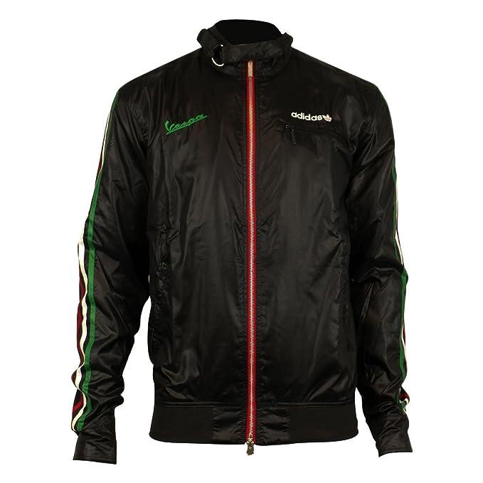 low priced bac30 aa0fb Para hombre Adidas Originals Vespa conducción chaqueta Retro poliéster  abrigo negro o55595 Negro negro  Amazon.es  Ropa y accesorios