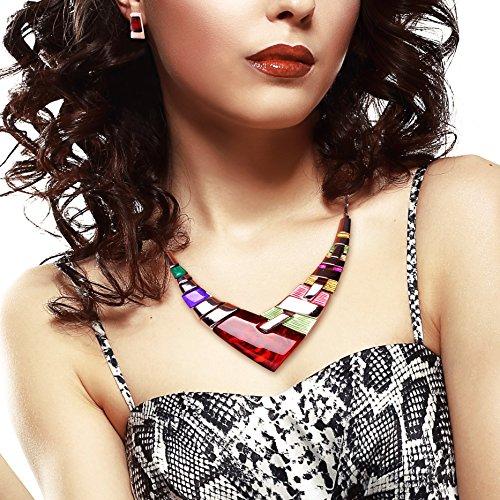 honeyjoy-women-multiple-splice-alloy-resin-necklace